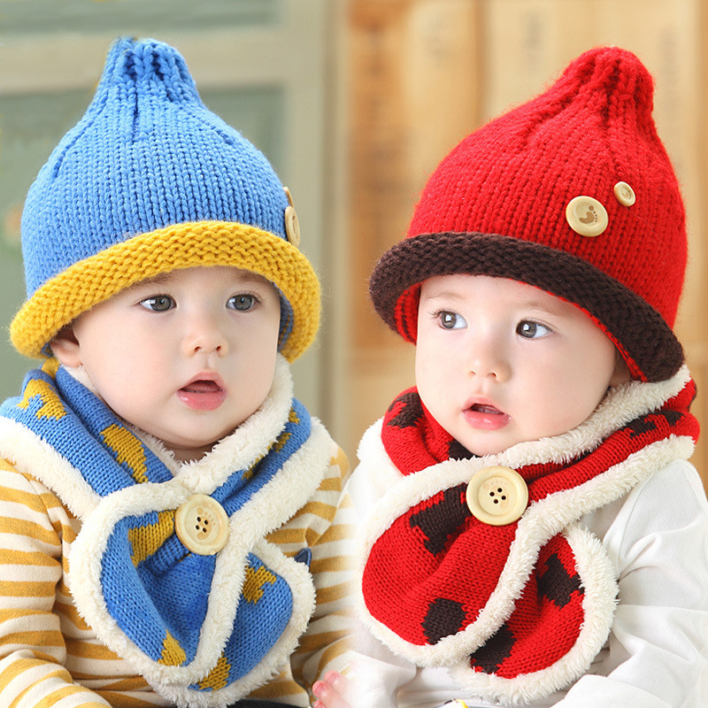 e8a25a9ed27 Get Quotations · Bear flower hat baby boys and girls korean autumn and  winter plus velvet models of child