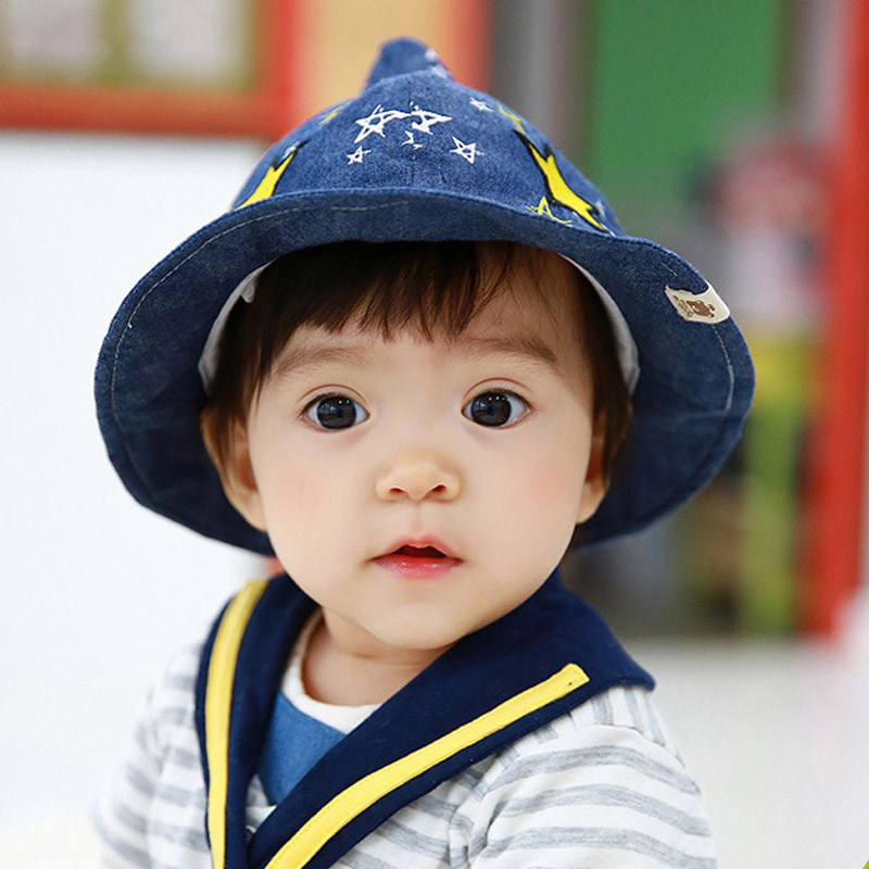 d36bca9c951 Get Quotations · Bears flowers in spring and autumn baby cotton bucket hats  baby hats boys and girls sun