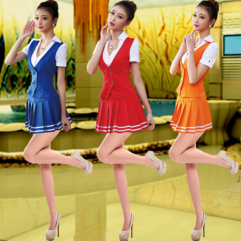 Beauty sauna foot technician technician overalls overalls suit summer stewardess miss sexy stewardess dress uniforms hotel