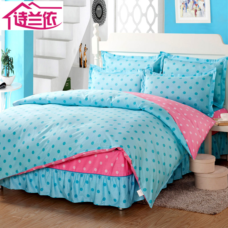 Bed skirt [paragraph] special offer free shipping cotton denim cotton textile single double bed houseware