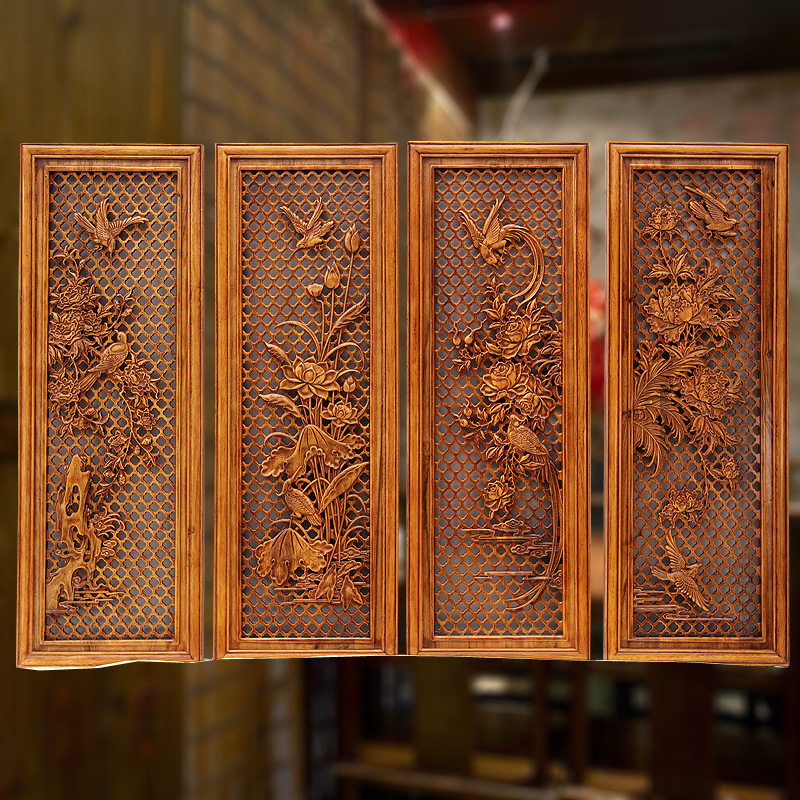 Get Quotations Bedroom Living Room Wall Decorations Pieces Above House Retro Chinese Decoration Dongyang Wood Carving Camphor