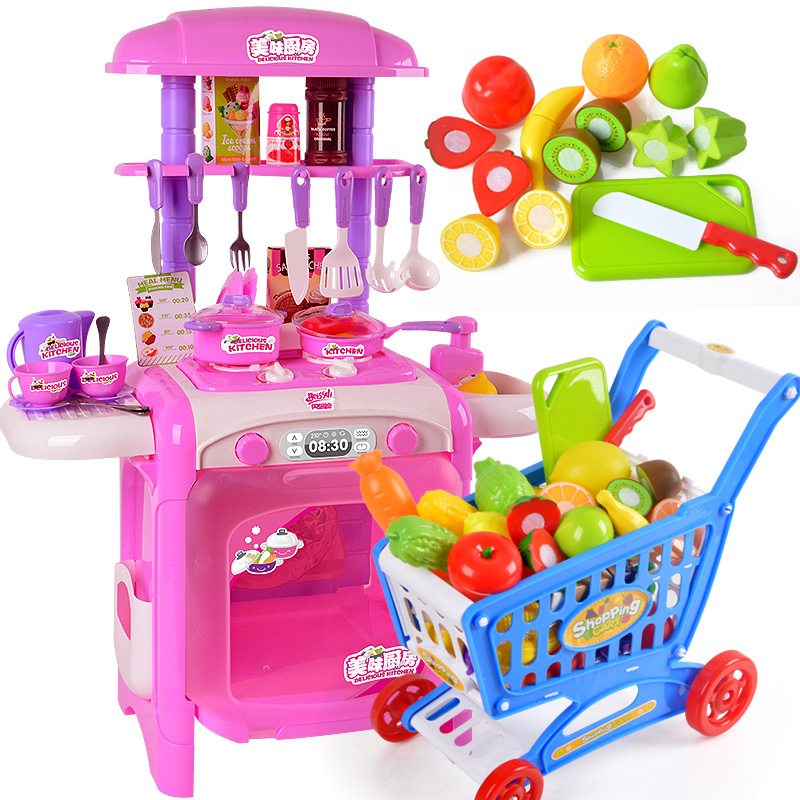 Bei sidi 1-2-3-year-old cut fruits and vegetables small girls baby children every family kitchen toys earnest music