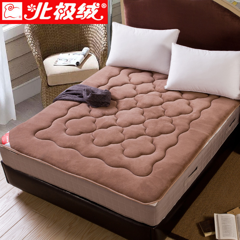 Beiji rong thick tatami mattress mattress mattress 1.5 m single bed dormitory 90cm sponge coral velvet cushions