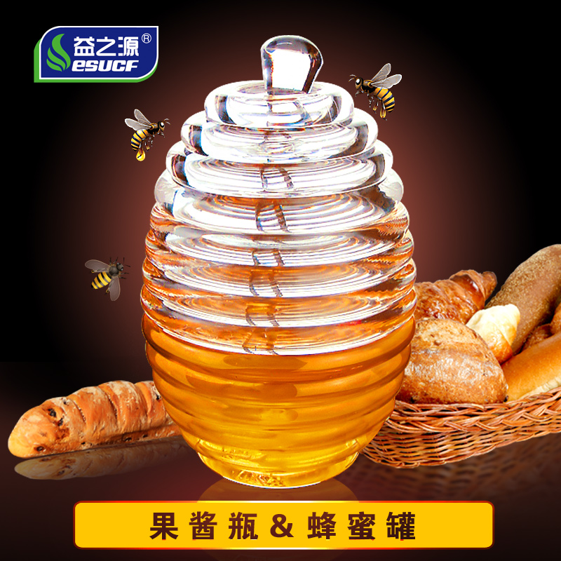 Beneficial source of creative breakfast jam bottles honey bottles plastic bottles of honey jar acrylic cruet with stir stick