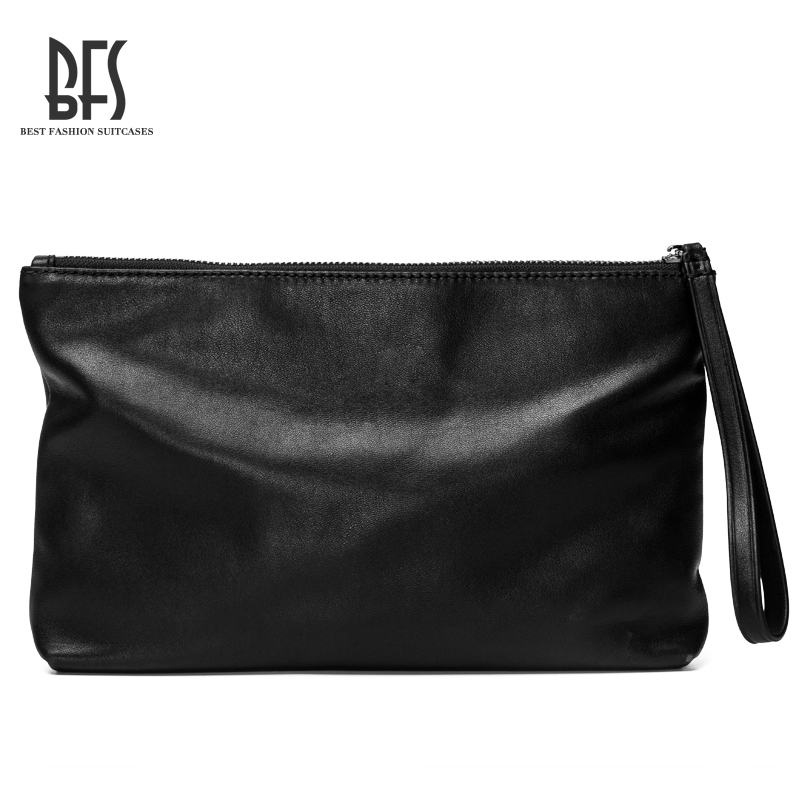 Bfs men leather soft leather envelope clutch bag man bag man holding a clutch bag influx of large capacity volume Male leather