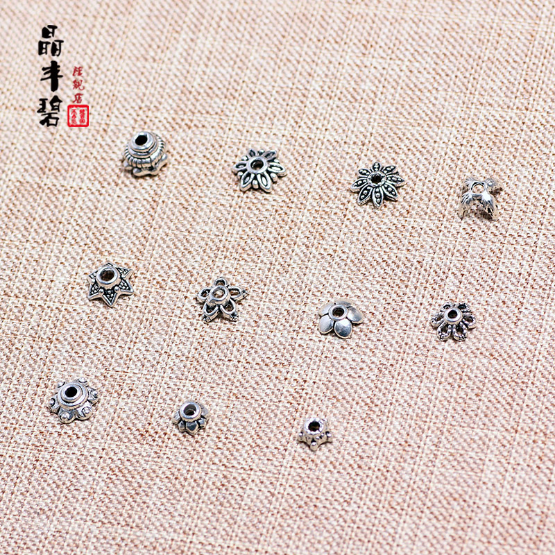 Bi feng jing crystal jewelry accessories diy accessories handmade accessories tibetan silver receptacle