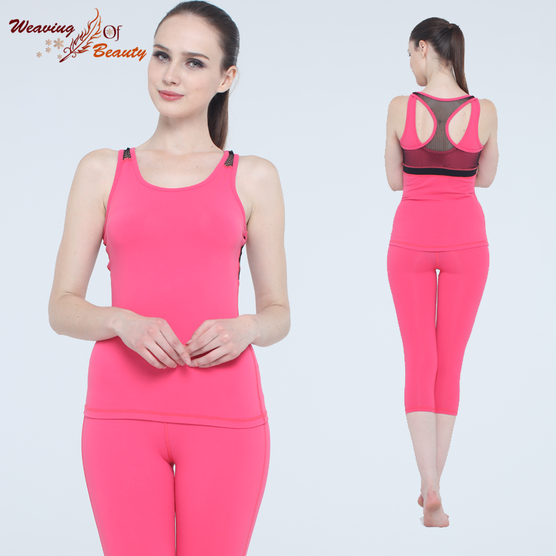Biao spring new yoga fitness yoga clothes suit the spring and summer was thin wicking women increasingly workout clothes dance clothes practice