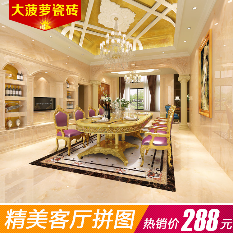 Big pineapple 800 foshan living room floor tiles ceramic stone tile 800 european parquet puzzle infinity