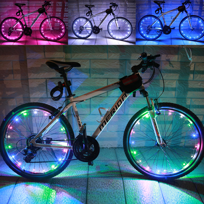 Bike lights mountain bike spokes lamp lights dead fly bicycle bike color hot wheels bicycle lights warning lights night riding accessories