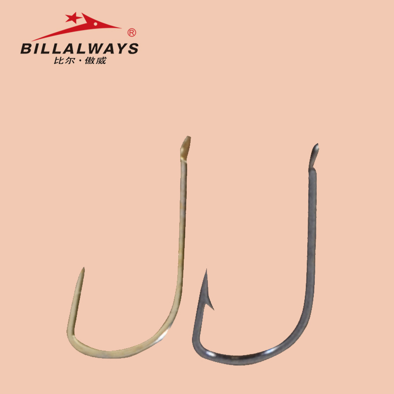Bill orad gold cuff sleeves stingless barbed hooks bulk bagged black sleeves barbed hooks imported from japan hooks hooks fishing tackle