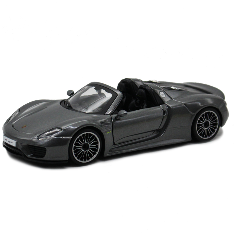 Bimei high/bburago 1:242014 porsche 918 cabriolet alloy metal gray car toy car model collection