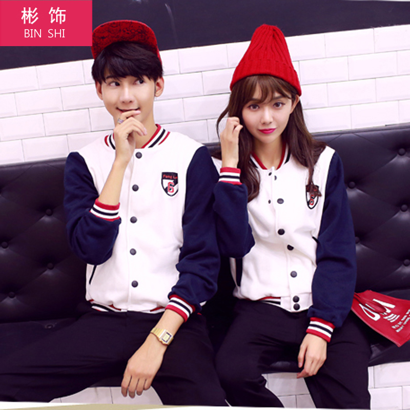 Bin decorated with autumn sweater lovers baseball uniform lovers fall and winter coat big yards korean version of the influx of students casual cardigan