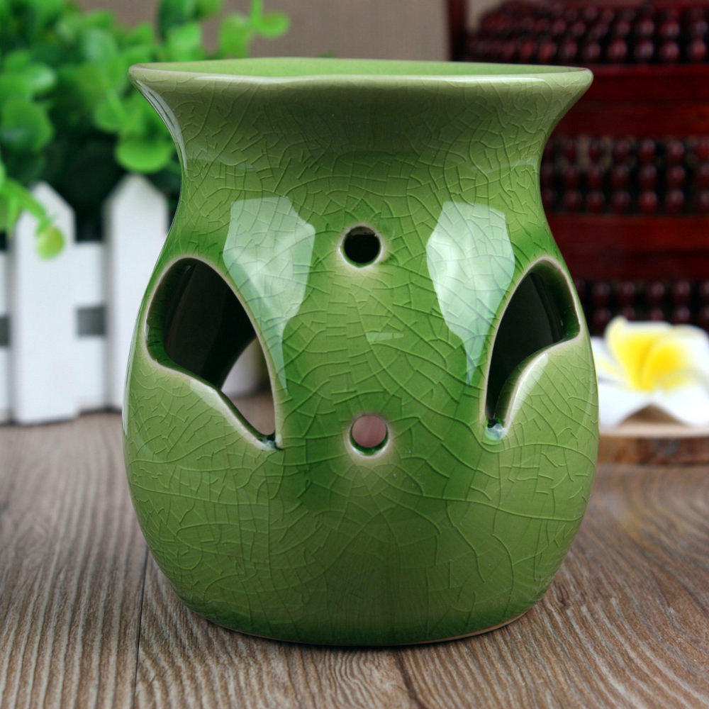 Binglie ceramic stove vaporizer aromatherapy candles crackle glaze thai craft incense oil lamp fragrance lamp oil candle to send
