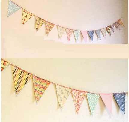 Birthday party wedding room decoration paper pictures bunting brace wedding birthday decoration supplies a
