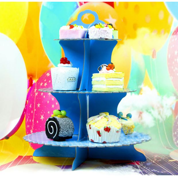 Birthday supplies furnished dress small fresh creative birthday cake tray shelf pa rty party supplies