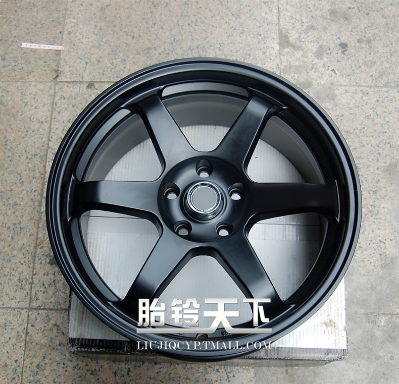 Black car surface e37 black modified alloy wheels rims 18 inch