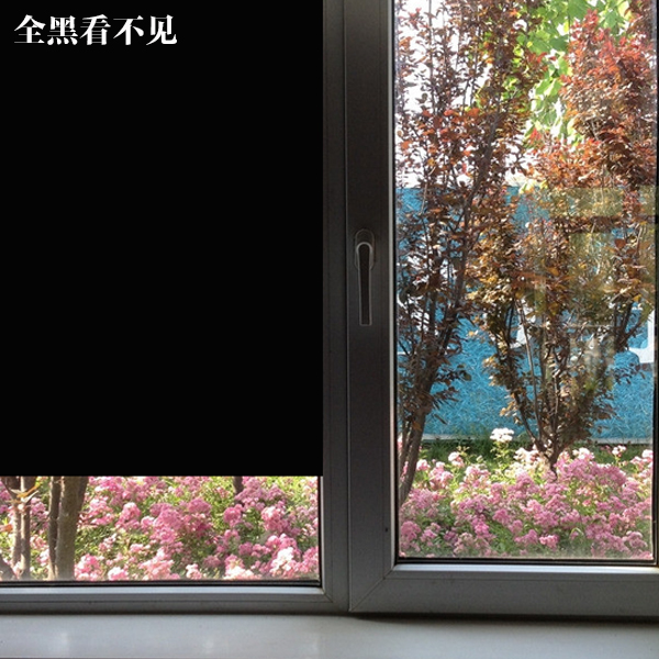 Black shading window paper opaque stickers home window film to the glass sun across the hot black opaque film