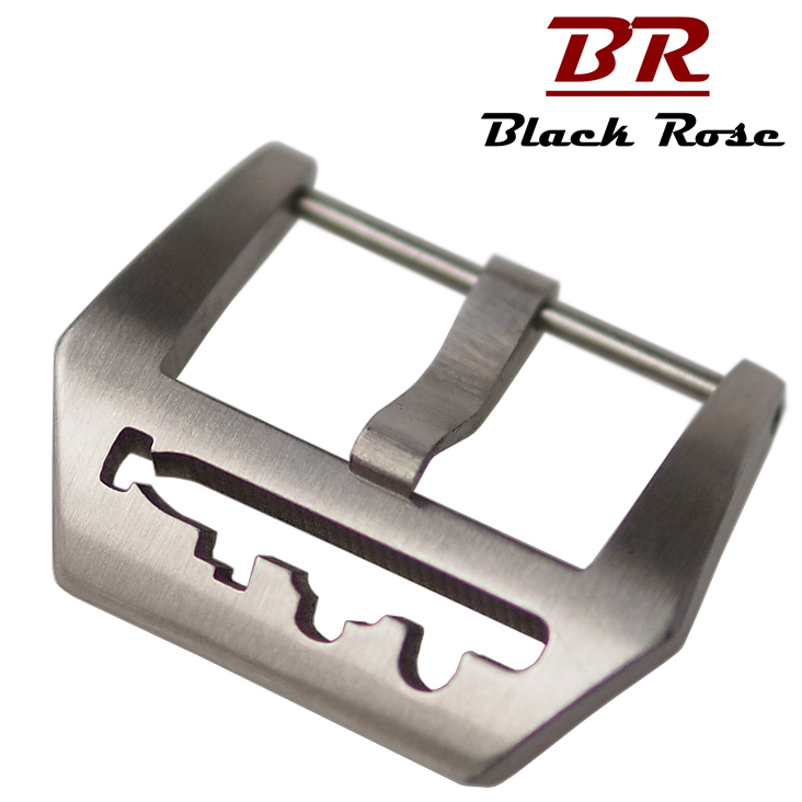 Blackrose stainless steel pin buckle leather strap watch clasp buttons for panerai strap buckle strap watch accessories