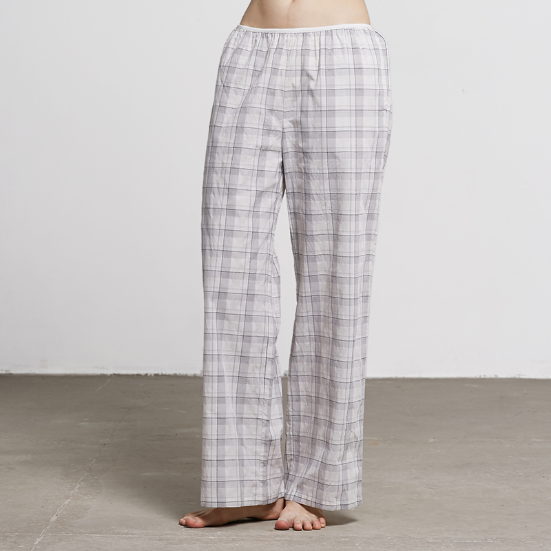 Blossoming cocoa autumn and winter female simple cotton pajama pants at home and comfortable tracksuit