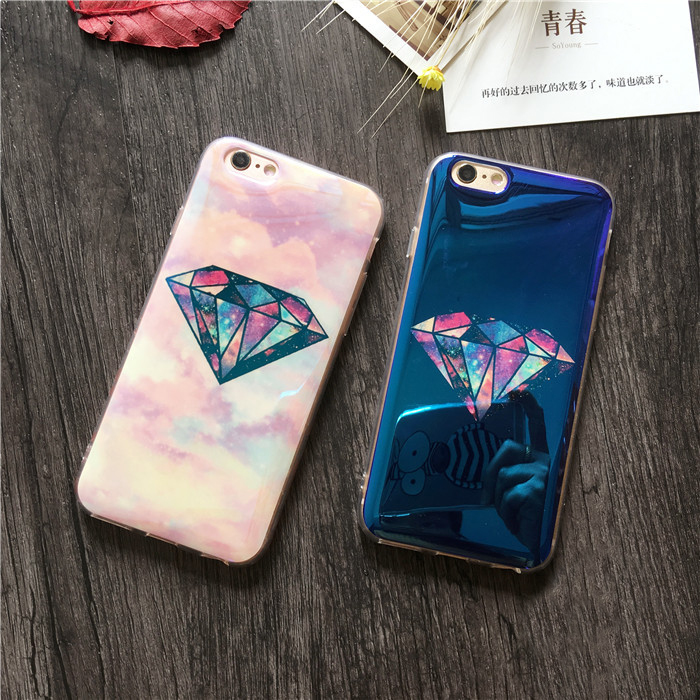 Blu-ray iphone6 plus4.7/5.5se silicone whole package phone shell mobile phone shell apple s superman diamond protective sleeve