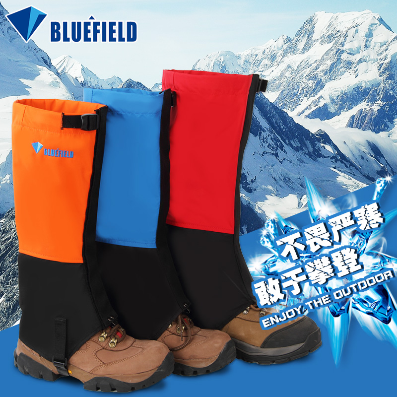 Blue field mountaineering snow cover wear thick adjustable feet with a waterproof breathable ski gloves for outdoor anti snake worm
