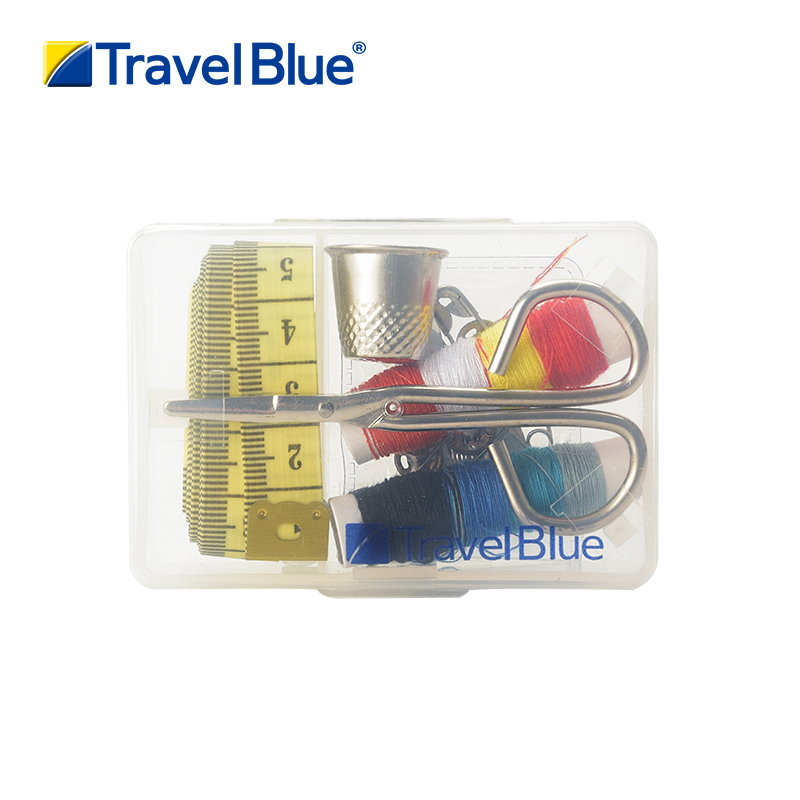 Blue trip travel sewing kit sewing kit box portable mini sewing kit sewing tools sewing thread sew sewing kit