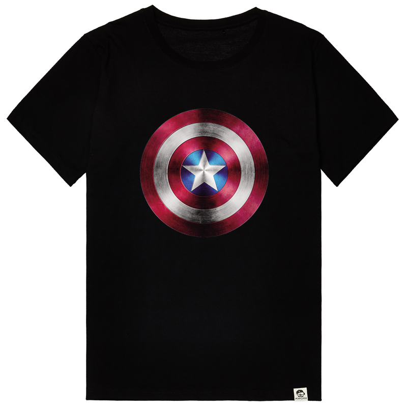 Bm-star big yards tide brand men avengers captain america oversized short sleeve t-shirt male summer clothes