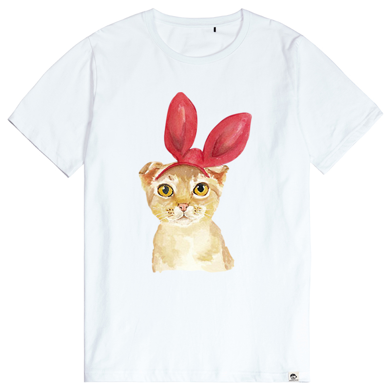 Bm-star cute kittens short sleeve t-shirt men's summer cotton loose big yards sleeve t-shirt tide male personality
