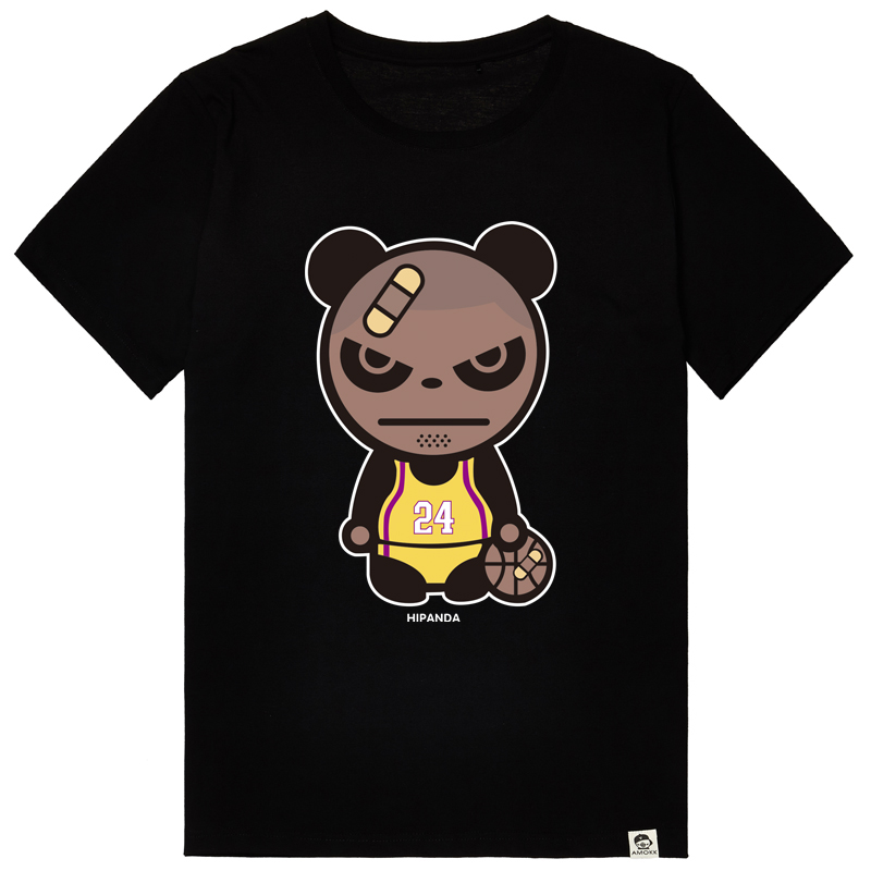 Bm-star kobe bryant basketball sports t-shirt loose round neck short sleeve t-shirt men gloomy male big yards cotton sleeve