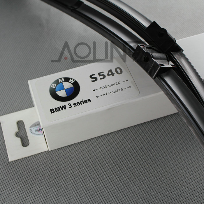 Bmw 3 series dedicated interface boneless wiper blades car wiper/wiper blades mounted one pair