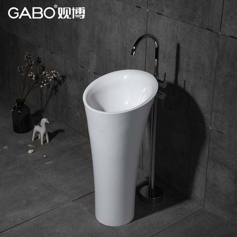 Bo bathroom verticle seiko artificial stone art basin wash basin pedestal basin wash basin 10212