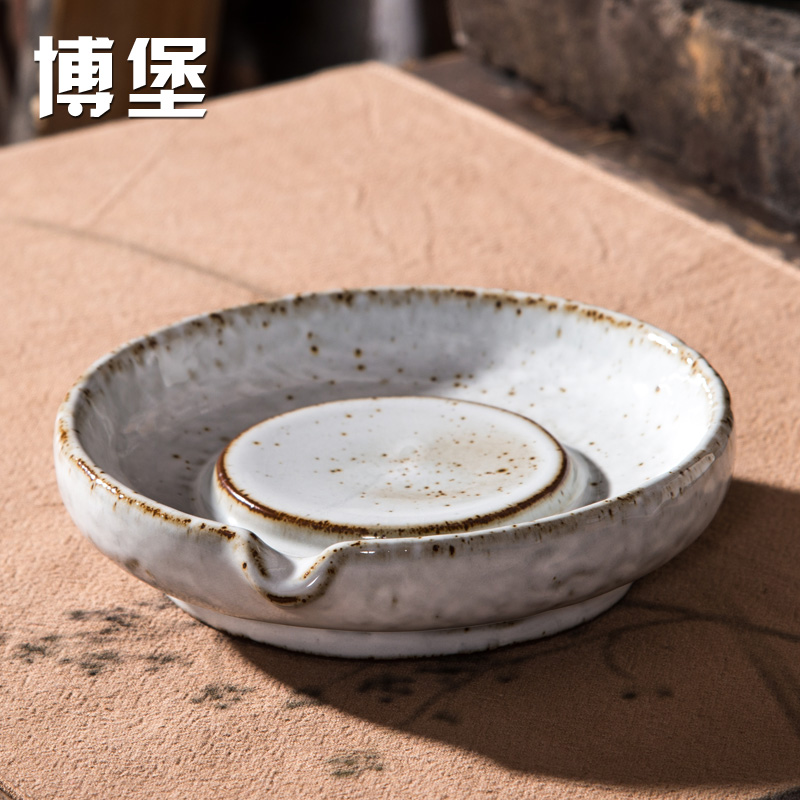 Bo bo silver plaque rust glaze stoneware tea pot bearing archaized dry foam tray tea sets ceramic tea kung fu tea pot prop Accessories