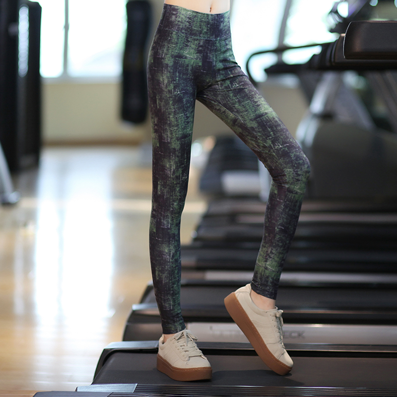 Bodhisattva ti yoga clothes tight sports gym jogging pants yoga pants pants female summer was thin printing pantyhose