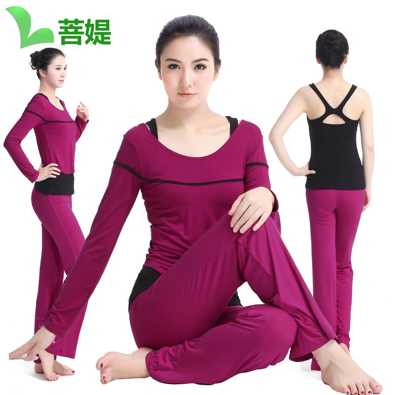 Bodhisattva ti yoga clothes yoga clothes parure female autumn and winter was thin yoga clothes increasingly workout gym dance pants yoga Jogging suits