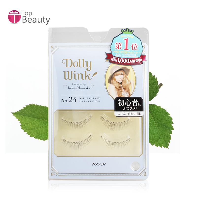 Bonded straight hair koji/kou kat dolly Wink24 # japanese handmade false eyelashes natural beauty pupil