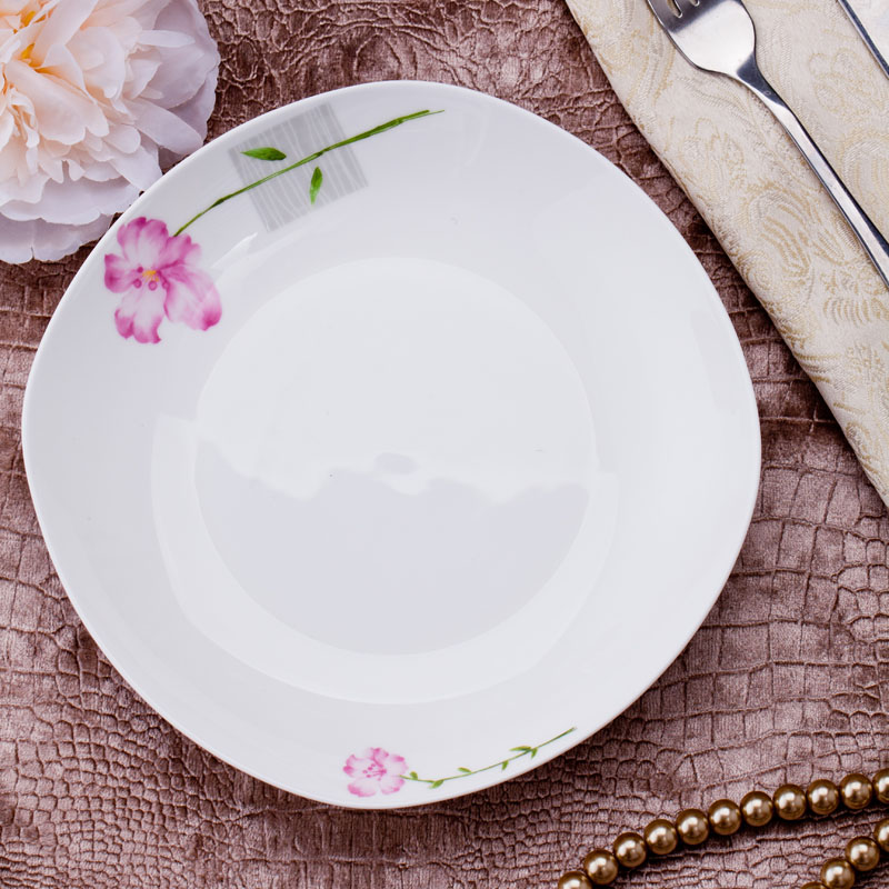 Bone china tableware ceramic dish dish dish dinner plate dinner plate soup plate weidie remec household ceramics parts