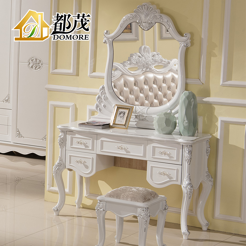 Both mao french furniture european solid wood dresser bedroom dresser dressing table mirror pastoral dresser white makeup vanity cabinet