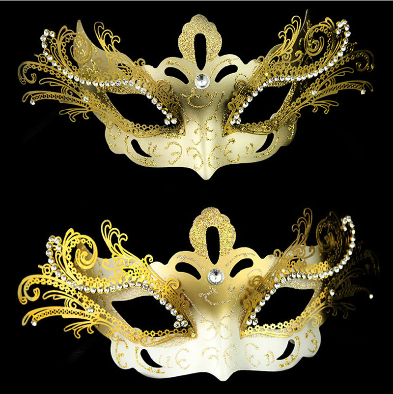 Boutique halloween mask half face mask venetian mask masquerade mask princess diamond copper