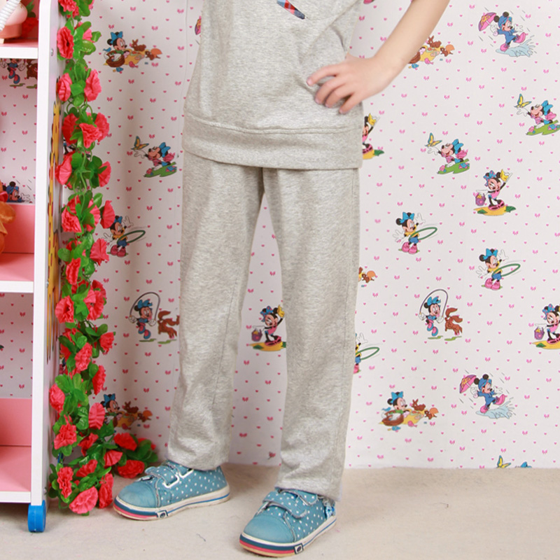 New Girls Children Summer Korean Letter Personality Tide Trousers Sports Suit