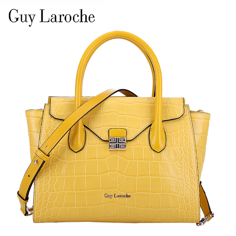 [Brand] anniversary guy laroche leather handbags brand handbags european and american fashion crocodile pattern leather shoulder bag