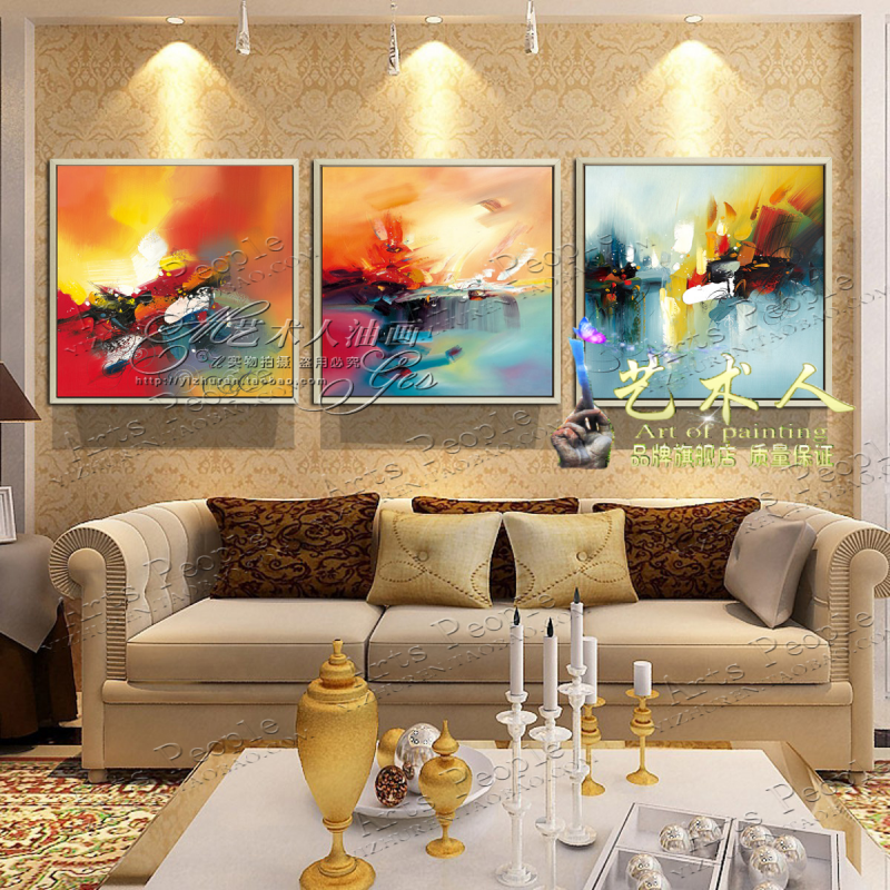 Brand painted oil painting abstract modern european decorative painting the living room entrance hotel with paintings framed painting wall painting