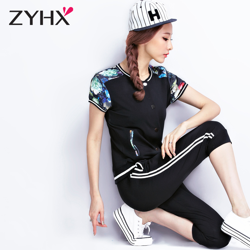 Breathe freely 16 female summer short sleeve sports and leisure suit pant sports suit female sports suit female models