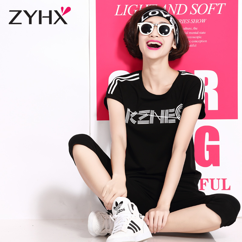 Breathe freely sports suit sportswear suit female under the age of a scheme of summer piece short sleeve t-shirt female korean student suit
