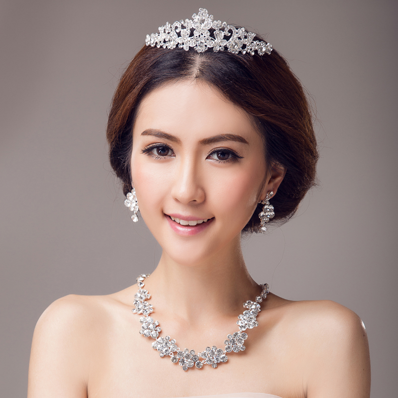 Bridal jewelry tiara crown necklace earrings wedding accessories bridal crown bridal crown necklace
