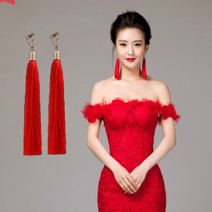 Get Quotations Bride Cheongsam Dress With Tel Earrings New Toast Clothing Evening