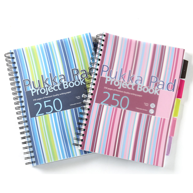 British pukka pad stripes series of business can be easy to tear take powder | blue pp cover bookbinding a4 notes this