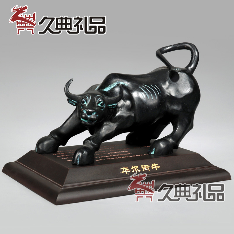 Bronze copper copper wall street bull cow ornaments office desk ornaments crafts gifts lucky vaughan cattle stocks