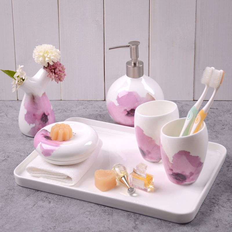 Brush teeth with toiletries kit euclidian fine bone china ceramic sanitary wujiantao toiletries cups suit wedding gifts