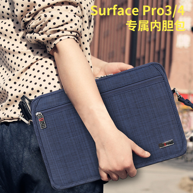 Bubm microsoft surface pro3 protective sleeve 12 tablet computer bag liner pro4 package accessories storage