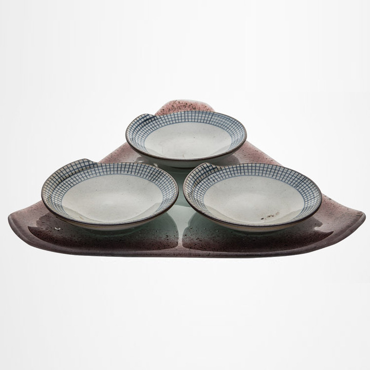 Buffet food dish snack tray | glass | glass dish snack tray kit LM-SFH1801B